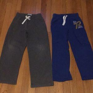 2 pairs of boys sweatpants size M